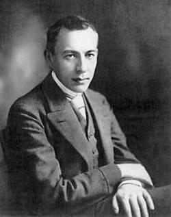 Foto do compositor Sergei Rachmaninoff