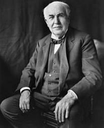 Foto do inventor Thomas Edison